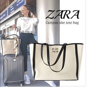 🟡2/$30 | Zara | Thick fabric tote